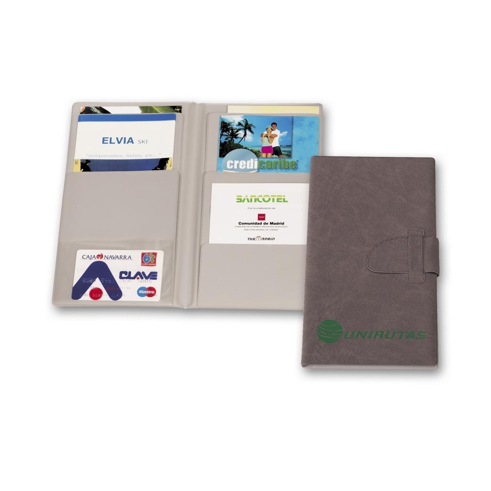 Portadocumentos ideal para publicidad de agencias de viaje.