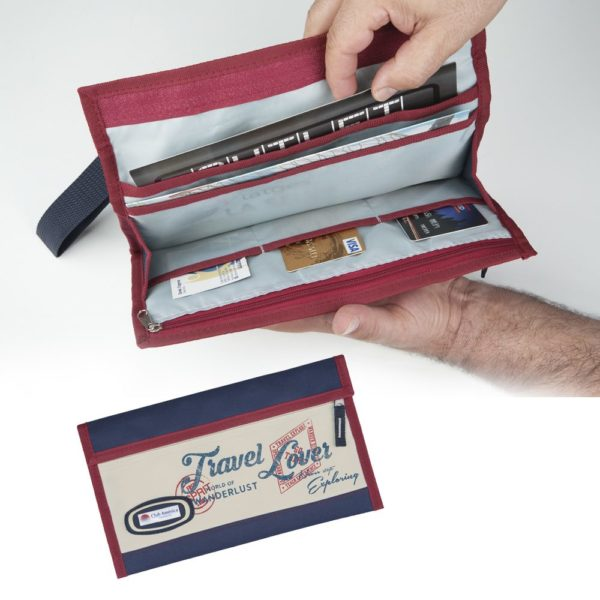 Portadocumentos para usar como tarjetero, porta pasaporte, billetera.