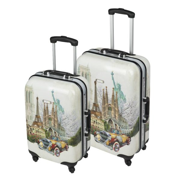 Set de dos maletas de viaje personalizables.