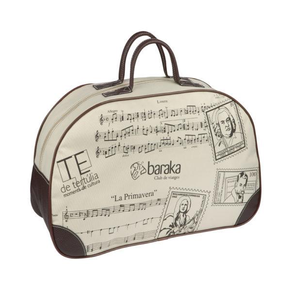 Bolsos de viaje totalmente estampada con diseño exclusivo y novedoso.