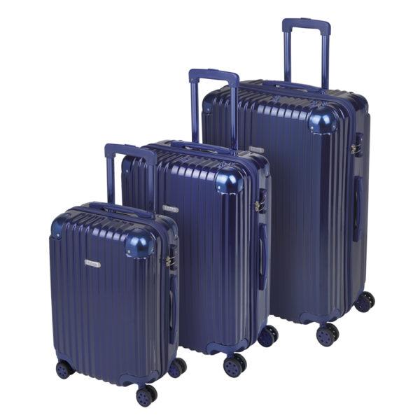 Tres maletas de viaje con ruedas. Acabado de alta calidad. Trolleys.