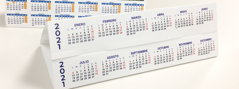 calendario ano sucesivo parte inferior